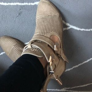Tan booties. Size 7.5